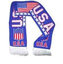 USA Flag Blue Soccer Scarf