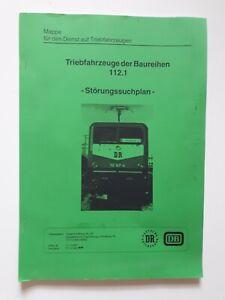 Deutsche Reichsbahn Störungssuchplan BR 112.1