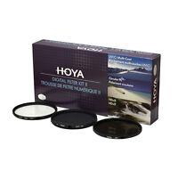 HOYA 77mm Digital Filter Kit Set: HMC UV, CPL/Circular Polarizer, NDx8 , & Pouch