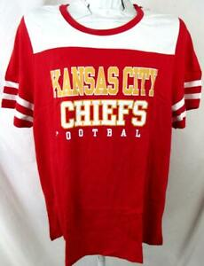 Kansas City Chiefs Womens Plus Size 2X 3X 4X Glitter Screened Team Tee AKAC 285