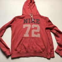 Nike The Athletic Dept Womens Red Logo Pullover Hoodie Size Large A353