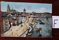 Postkarte Ansichten Nordrhein-Westfalen Lithografie Köln Colonel Ley stapel