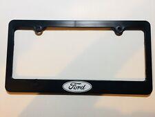 Ford Logo Black Plastic License Plate Frame Holder