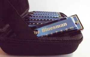 Harmonica Boxed set of 7 - Bluesman Vintage Blue Edition - ideal gift