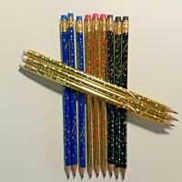 12 count No. 2 Pencils Pen + Gear Sparkle With Stars Wood Pencils New