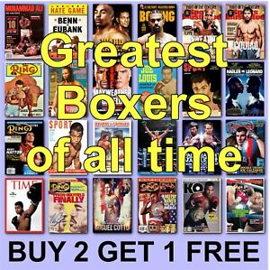 Boxing Posters Boxing Poster Greatest Boxers HD Borderless Printing Tyson Ali