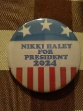NIKKI HALEY FOR PRESIDENT 2024 BUTTON PIN
