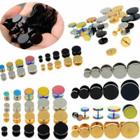10X Stainless Steel Fake Cheater Ear Plugs Gauge Illusion Body Jewelry Pierceing