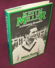 Keith Miller A Cricketing Biography by Mihir Bose  UNread 1st HbDj  RARE AWES♥ME