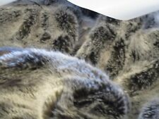 "West Elm Faux Fur Cascade Throw, 60 ""x 80"", Brown Iron New wo tag"