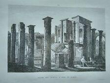 1845 Zuccagni-Orlandini Avanzi del Tempio d'Iside in Pompei