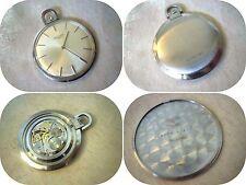 Orologio Tasca LONGINES in acciaio ultrapiatto anni '60 17 rubini CARICA MANUALE