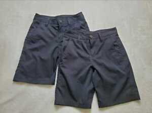 Boys 10 12 Under Armour golf / school uniform loose fit black shorts