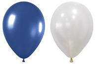 "10/"" Party Balloons Mid Blue /& Orange 5 of Each Colour 25cm"