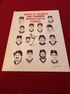 RARE Minnesota Twins 1987 World Champions Everett Hayes Poster, Kirby Puckett!!