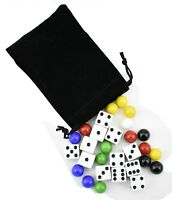 9/16 inch Marbles Aggravation Board Game Replacement Playing Pieces with Dice