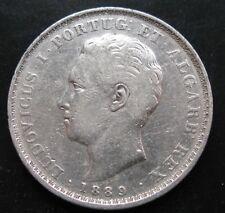 PORTUGAL , 500 REIS DE 1889 . PLATA