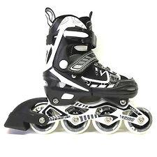 Weing Inline Skate verstellbare Kinder Inliner schwarz Gr. 30 - 33 Abec 7 LED