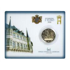 Luxemburg 2 Euro 2018 Luxemburgische Verfassung ST im Blister / Coincard