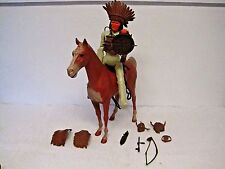 Vintage Johnny West Geronimo Marx Toys &1965 Poncho Horse w/Wheels & Accessories