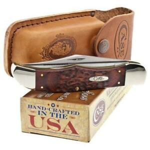 CASE XX Hunter Folding Knife Surgical Steel Blades Staminawood Delrin Handle 189