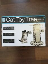 Tiny's Pet Products Cat Toy Tree with Sisal and Cardboard Scratching Surface