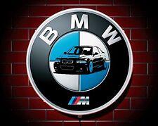 Bmw m led 600mm lumineux garage mur lumière voiture badge signe logo homme caverne cadeau