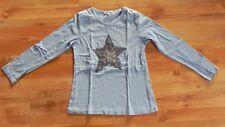 Louis & Louisa Langarm-Shirt, Mädchen, Blau mit Stern 152/158 guter Zustand