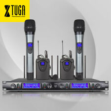 EW240 4 Channel 2Cordless Handheld 2Lavalier Mic UHF Wireless Microphone System
