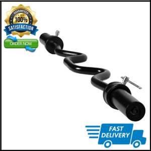 """Olympic Super EZ Curl Bar Black Weight Lifting Barbell Gym Training Fitness 48"""""""