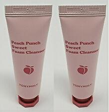 2 x TONY MOLY Peach Punch Sweet Foam Cleanser 10ml/0.33oz each Travel Size