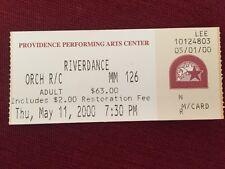 RIVERDANCE ticket stub, 2000