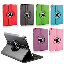 piel artificial Giratoria Soporte Funda Folio para Apple iPad 3 2 Mini