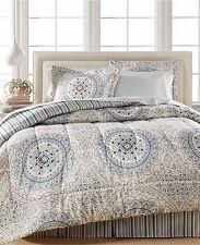 Sunham Fairfield Square Aidan Bedding 8 Piece QUEEN Comforter Set GREY $100 C416