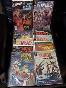 Gold Key Comics Lot of 10 - Doctor Spektor, Turok, Tarzan, more