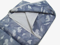 Pottery Barn Kids Multi Colors Blue Camo Camouflage Cotton Twin Duvet Cover