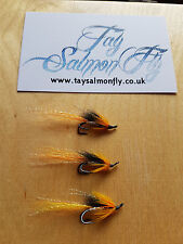 3x Cascade Black Double Size 12 Salmon Fishing Flies