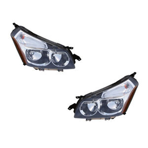 Headlights Front Lamps Pair Set for 09-10 Pontiac Vibe Left & Right