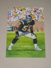 Junior Seau San Diego Chargers Hof Class of 2015 Goal Line Art Card Glac Mint
