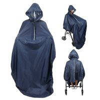 Wheelchair Waterproof Poncho Rain Cover With Hood Disability Aid Rain Coat MR