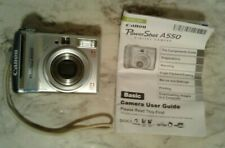 Canon PowerShot A550 7.1 Mega Pixels 4x Zoom Digital Camera w/ Instructions