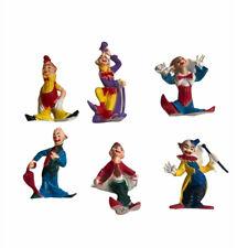 Vintage Plastic Clown Figures Figurines Lot Of 6 Creepy Colorful (a)