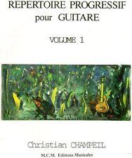 Répertoire progressif pour guitare volume 1