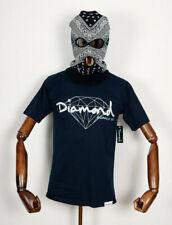 Diamond supply co t-shirt Shirt Tee Brilliant Script navy IN S