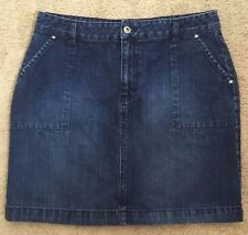 Tommy Hilfiger Jeans Denim Jean Skirt Dark Wash Size 8 Zipper Front High Waist