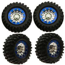 "4PCS 1/10 RC Crawler 1.9"" Metal Beadlock Wheel Rims & 108mm Rubber Tyre Tires"