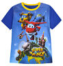 Boys Super Wings T-shirt Kids New 100% Cotton Tee Top Blue Ages 2 3 4 5 6 Years
