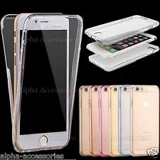 For Apple, Samsung  Full Body Thin TPU Shockproof Soft Gel Clear Case Cover Skin