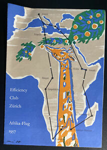 Swiss Air Efficiency Club African Flight Souvenir Brochure #304 With Stamps
