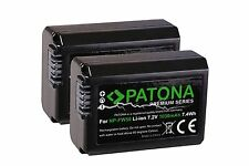 2x AKKU NP-FW50 Premium PATONA für Sony alpha α DSLR A6000, ILCE-6000